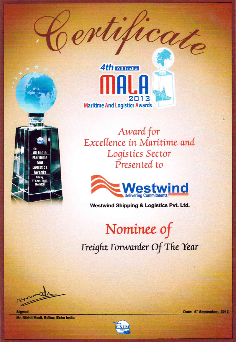 Leading in Frieght Forwarding and Logistic Industry -Westwind